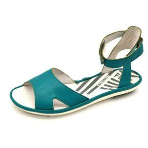 Fly London Womans Ankle Strap Sandal Turquoise NEW